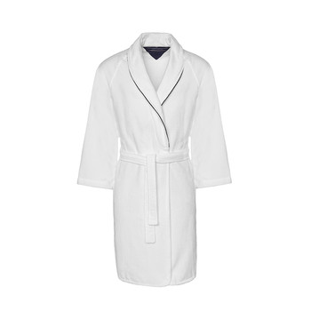 White Shawl Collar Bathrobe