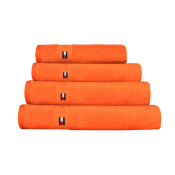 Plain Orange Range Towel