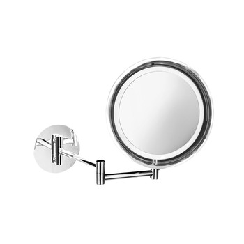 BS 16 Cosmetic Mirror - Illuminated Chrome - 5x Magnification