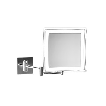 BS 84 Cosmetic Mirror - Illuminated Chrome - 5x Magnification