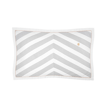 Navy Striped Satin Pillowcase