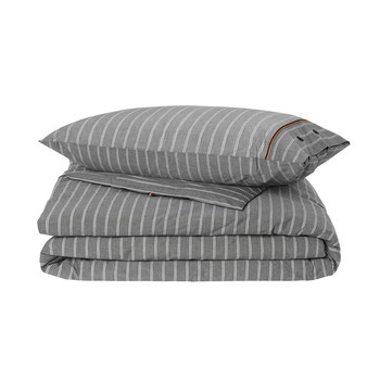 Gray Stripe Duvet Cover