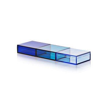 Momabox - 3 Compartment Storage Box - Assorted Blue