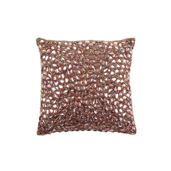 Jewel Bed Cushion 25x25cm - Cocoa