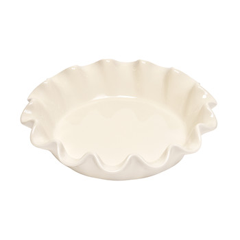 Ruffled Pie Dish - Clay