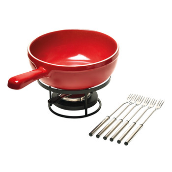 Fondue Set - Burgundy