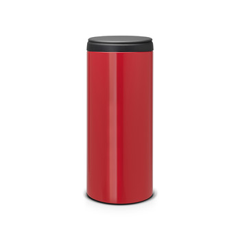 Flip Bin with Plastic Lid - 30 Litres - Passion Red