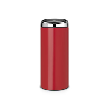 Touch Bin - 30 Litres - Passion Red with Brilliant Steel Lid