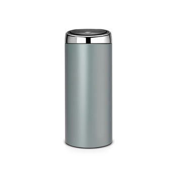 Touch Bin - 30 Litres - Metallic Mint with Brilliant Steel Lid