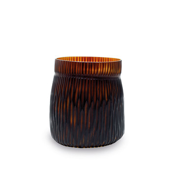 Mathura Vase - Butter/Brown