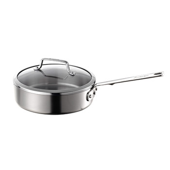 Authority Stainless Steel Saute Pan with Lid - 24cm