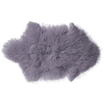Mongolian Lambs Fur Rug - Orchid