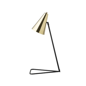 Black Stand Table Lamp - Brass