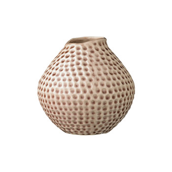 Ceramic Vase with Dotted Detail - Mauve