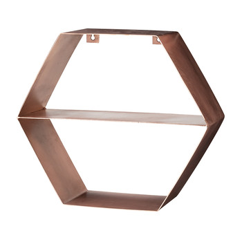 Copper Hexagonal Shelf