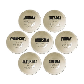 Weekday Quote Bowls - Set of 7