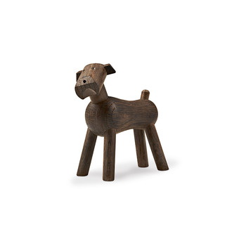 Dog Tim Wooden Figurine - Smoked Oak