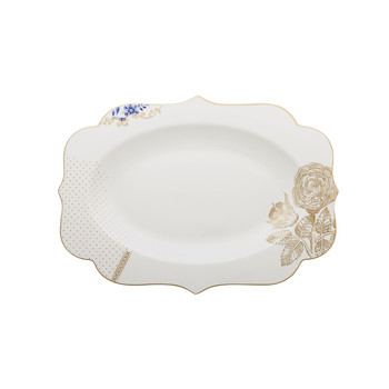 Royal White Oval Platter