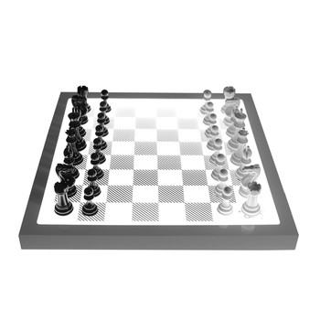 Dark Chess Set - Shadow Black