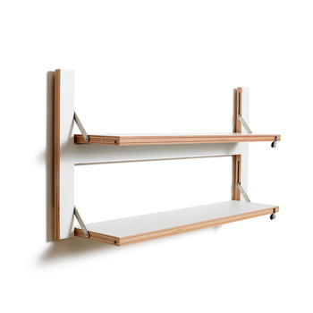Flapps Double Folding Shelf - 80x40 - White