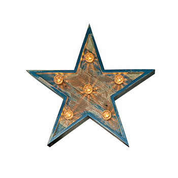Fairground Star Sign - Small - Blue