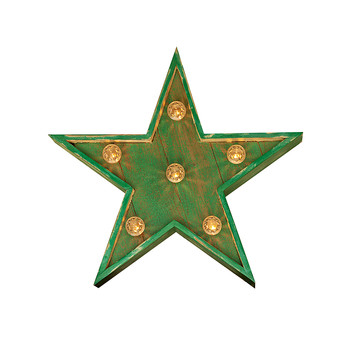 Fairground Star Sign - Small - Sea Green