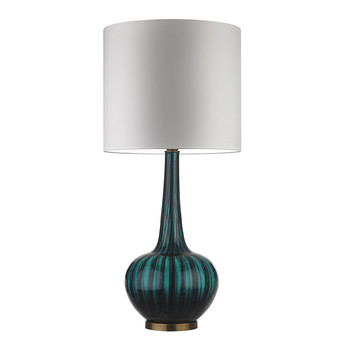 Grace Moire Teal Table Lamp
