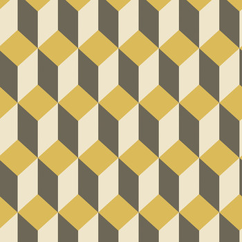 Delano Wallpaper - Yellow & Black - 105/7032