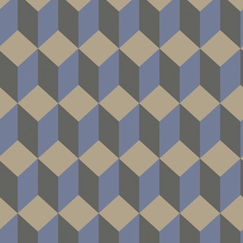 Delano Wallpaper - Blue & Black - 105/7034