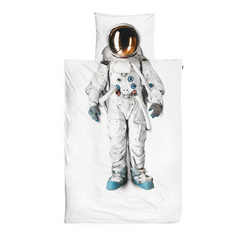 Astronaut Flannel Single Duvet Set