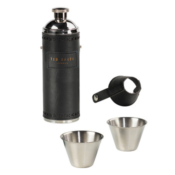 Men's Hip Flask and Cups Set