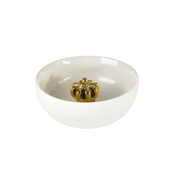 Bowl with Gold Crown