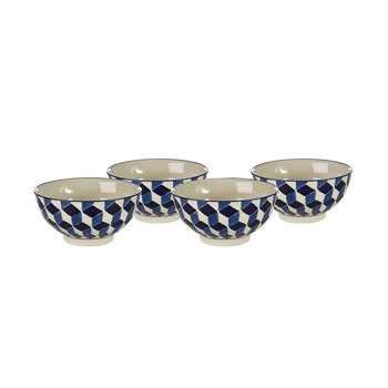 3D Bowls - Set of 4 - Blue