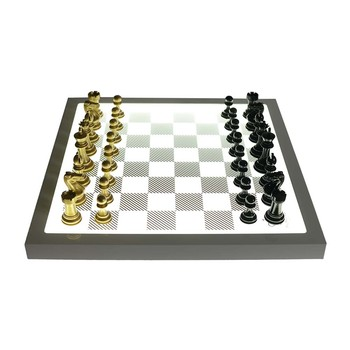 Dark Chess Set - Metallic Gold - v Shadow Black