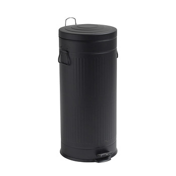 Black Round Trash Can - 30L