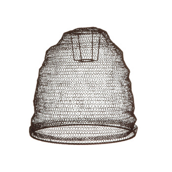 Jatani Wire Lamp Shade - Oval - Rust