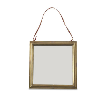 Kariba Mirror - Antique Brass