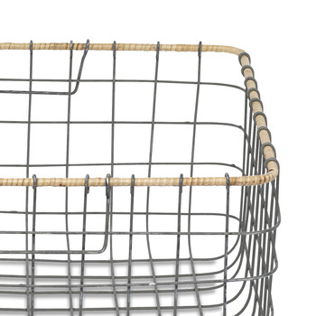 Lemba Wire Basket - Gray & Wicker