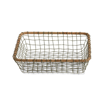 Koba Bowl - Gray & Wicker - Large Square