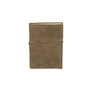 Suede Journal - Taupe