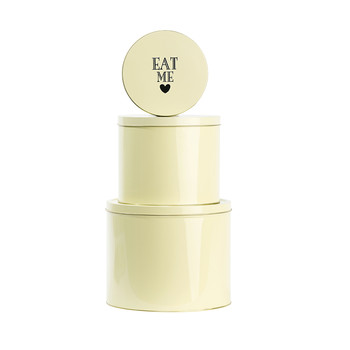 Round Tin - 'Eat Me' Lemon - Set of 3