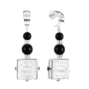 Aréthuse Ear Clip - Clear/Black
