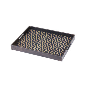 Indigo Diamond Rectangular Tray