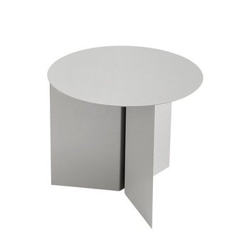 Slit Table - Round - Grey
