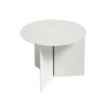 Slit Table - Round - White