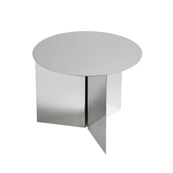 Slit Table - Round - Mirror