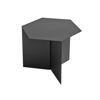 Slit Table - Hexagon - Black