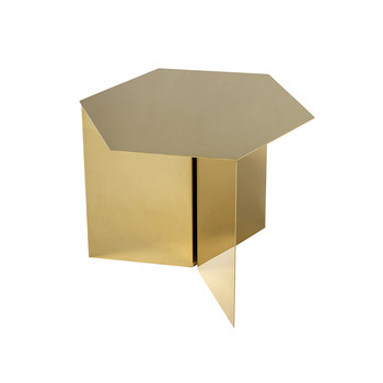 Slit Table - Hexagon - Brass