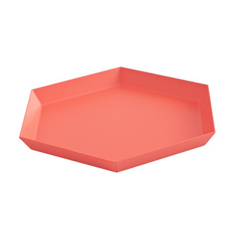 Kaleido Hexagon Tray - Small - Red