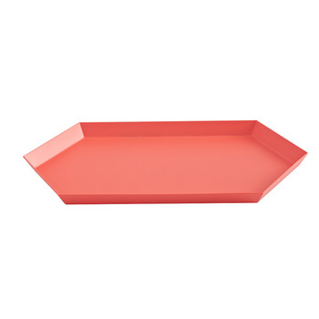 Kaleido Hexagon Tray - Medium - Red